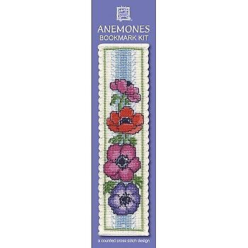Textile Heritage Counted Cross Stitch Kit Bookmark Anemones