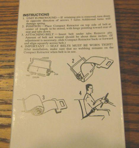 SEAT BELT RETRACTOR REELS Neatly winds up un-worn belts