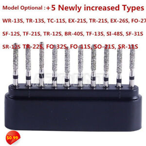 20-Type-Dental-Diamond-Bur-Drills-Turbine-Burs-For-High-Speed-Handpiece-10Pc-Box