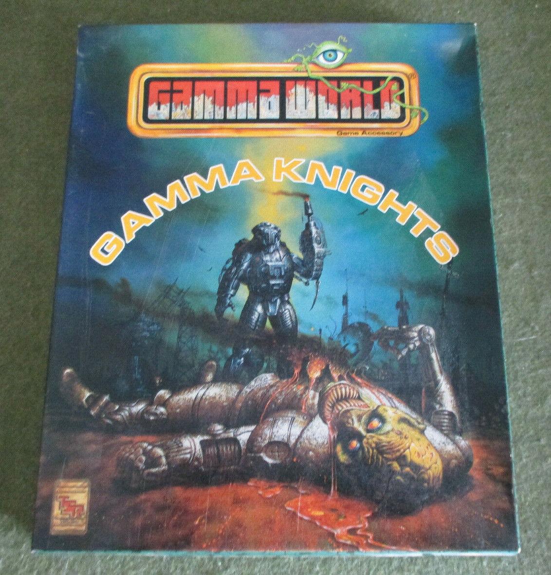 TSR, Gamma mundo Rpg-Gamma Caballeros Conjunto en caja (1992) (sin usar ENLOMADOR)