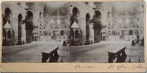 Venezia Sant' Marc Interno Italia Fotografia Stereo Vintage Citrato