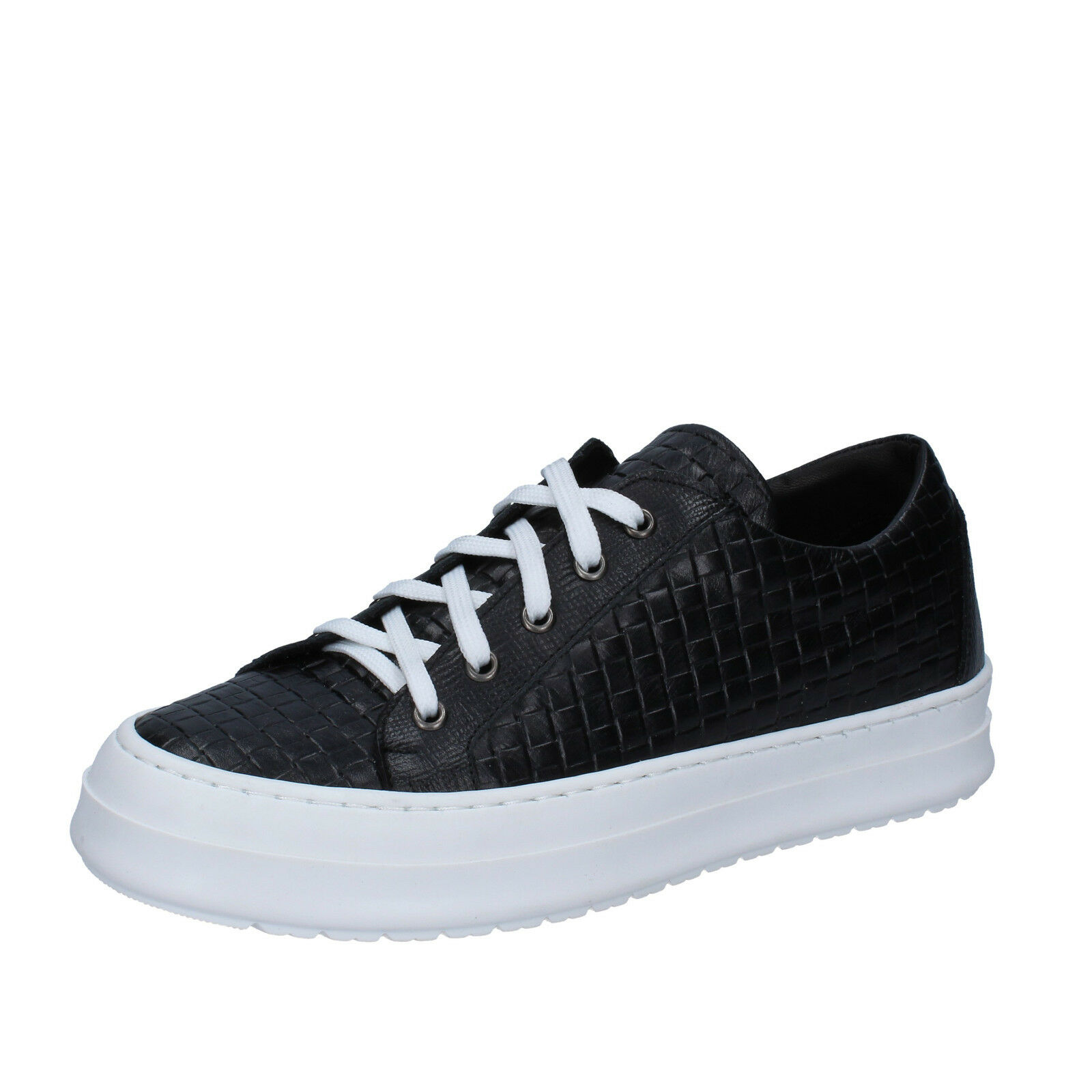 marchio famoso Scarpe uomo FDF scarpe 42 EU EU EU scarpe da ginnastica nero pelle BZ677-D  vendita di offerte