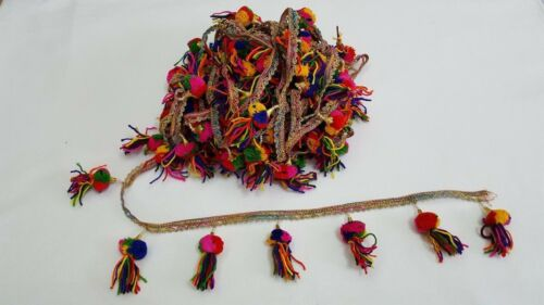 In Meters Beautiful Tassel Good size pompom /& embellishment on lace edge