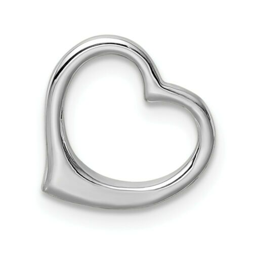Details about  /10k 10kt White Gold  Polished Heart Chain Slide PENDANT