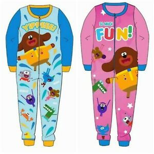 Boys HEY DUGGEE sleepsuit pyjamas all in one 2-6yrs micro fleece pjs