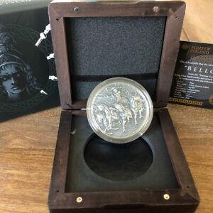 2019-Niue-Island-BELLONA-Roman-Gods-2oz-Silver-Antique-Coin