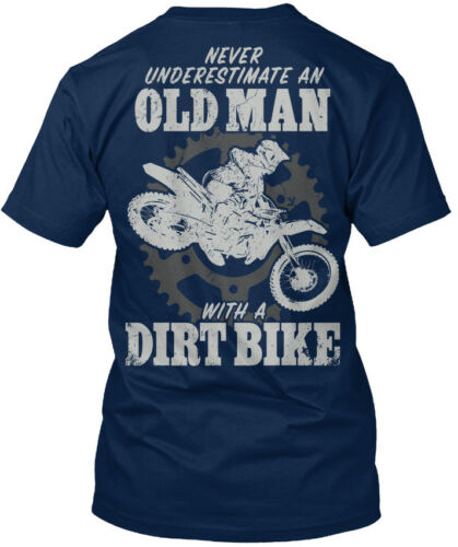 Never Standard Unisex T-shirt Trendsetting Old Man With A Dirt Bike