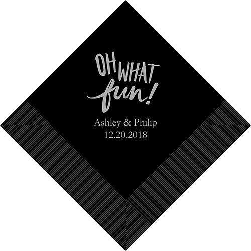 300 Oh What Fun Personalized Wedding Luncheon Napkins