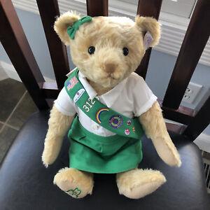 STEIFF CENTENARY GIRL SCOUT TEDDY BEAR LIMITED EDITON