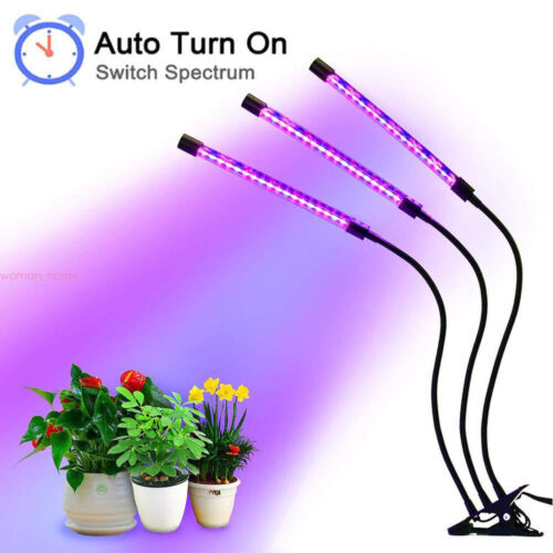 60 LED 3 Head Plant Grow Light Lamp with Clip for Indoor Plants Hydroponics 30W