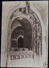 Glass Magic Lantern Slide CARDINAL MORTONS TOMB CANTERBURY DATED 1901 PHOTO KENT