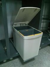 Estrarre sotto lavello cucina in plastica doppio di riciclaggio dei rifiuti Bin 16L 300mm CABINA
