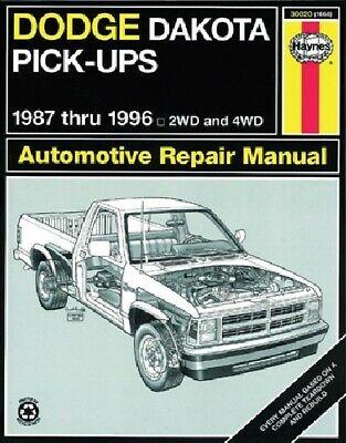 1987-1996 Dodge Dakota Pick-ups 2WD 4WD Service Repair Workshop Manual Book 2142