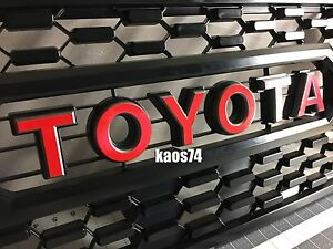 Toyota Tacoma TRD PRO Grill Emblem Decal 2016 and up to 2017 2018 and 2019