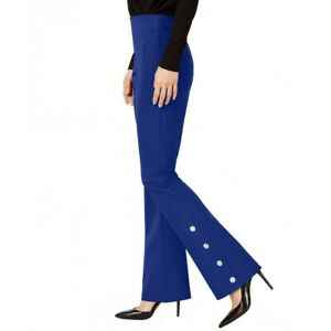 INC-Women-039-s-Embellished-Boot-Leg-Regular-Mid-Rise-Pull-On-Casual-Pants-TEDO