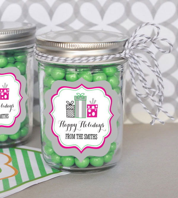 48 Personalized Holiday Party Theme Mini Mason Jars Wedding Holiday Party Favors