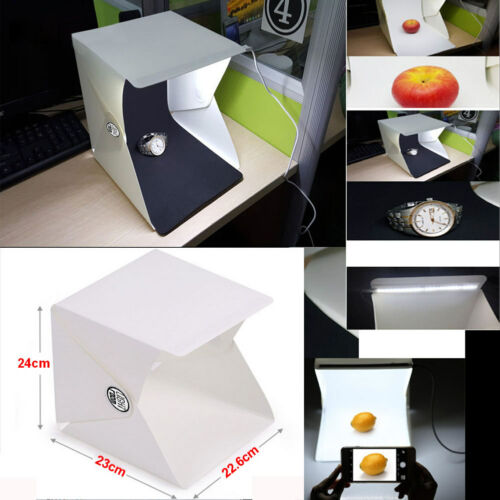 """Mini Photo Studio 9"""" Photography Lighting Tent Kits Light Room Backdrop Cube Box"""