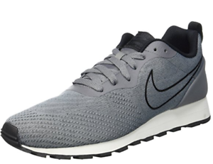 Nike MD Runner 2 Mens Mesh Cool Grey Running Shoes Sneaker Trainers
