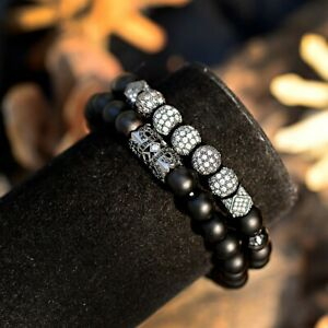 Black  zircon crown charm