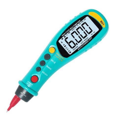 Stift Typ Digital Multimeter LCD Display B01 Auto Rang Tragbar Taschenlampe DE