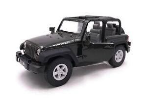 Modellino-Auto-Jeep-Wrangler-Rubicon-SUV-Nero-Cabrio-Auto-Scala-1-3-4