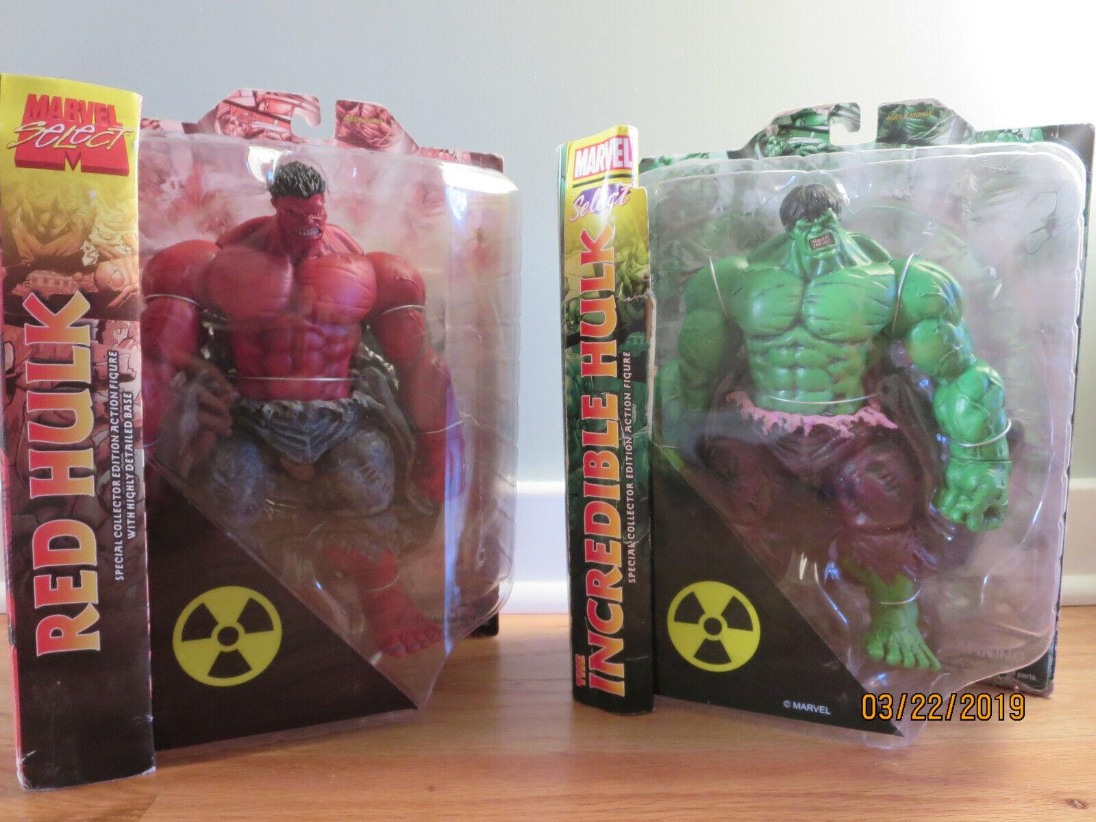 Marvel Select Hulk Rojo Y verde Pack