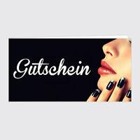 Gutschein Nagelstudio / Maniküre black Style - Din Lang - 25 Stück