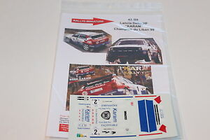 DECALS-1-43-LANCIA-DELTA-HF-INTEGRALE-KARAM-RALLYE-LIBAN-1999-WRC-RALLY