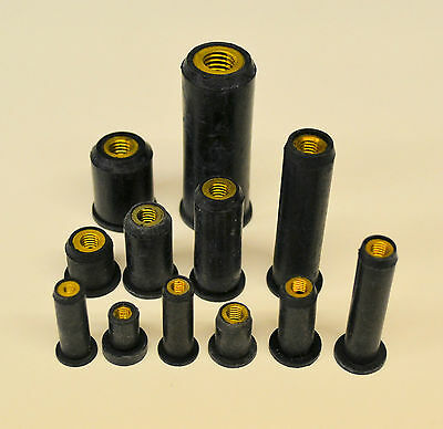 M3 M4 M5 M6 M8 M10 Rubber Well Nuts-Expanding Nut-Cavity Wall Fixings-Rubber Nut