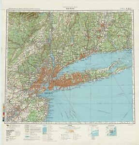 Details about Russian Soviet Military Topographic Maps - state NEW YORK  (USA) 1:500 000 set