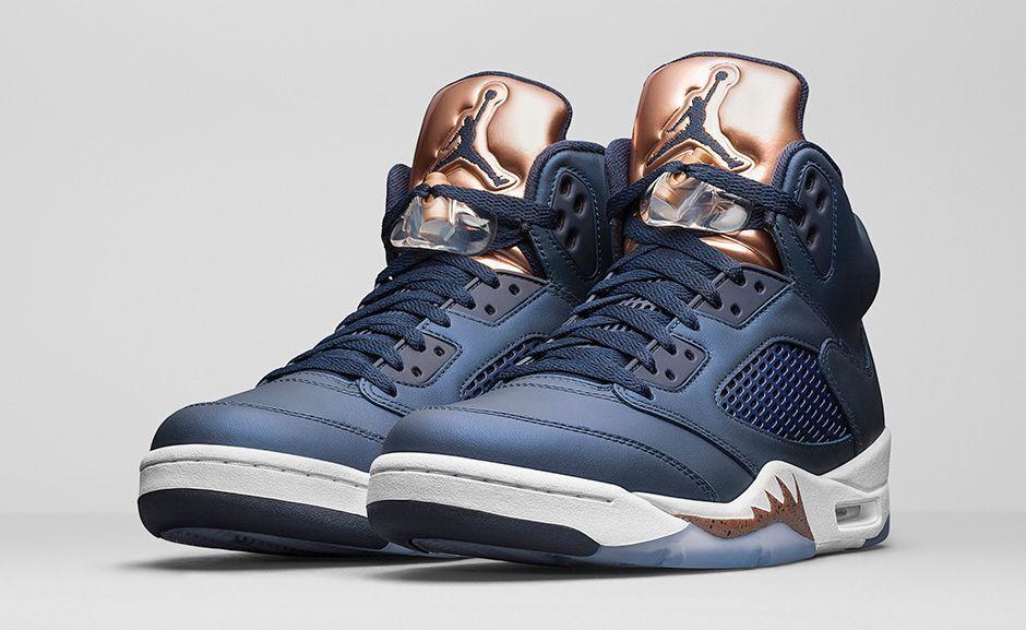 Nike Air Jordan 5 Retro Bronze 136027-416 Obsidian/White Brand New Size 18 DS QS