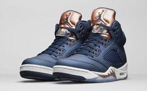 e4385a041925db Nike Air Jordan 5 Retro Bronze 136027-416 Obsidian White Brand New ...