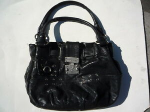 Juicy-Couture-black-leather-with-straps-pocket-book-Ex-condition-WAS-500-NEW