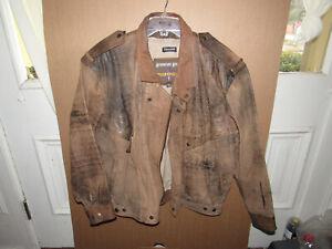 WILSONS-Adventure-Bound-Men-039-s-M-Brown-Leather-Bomber-Flight-Jacket-Thinsulate