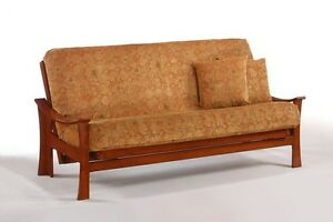 Details About Futon Frame Solid Wood Fuji Futon Sofa Bed Frame Full Or Queen Size