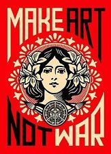 Make Art not War A4 Print on quality satin photo paper