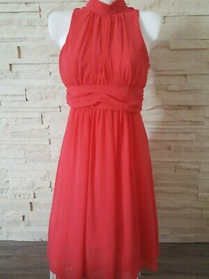 C A Yessica Damen Abendkleid Partykleid Kleid Gr 36 Corale Rot Kurz Ebay