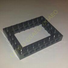 1 X Lego 40345 Technic, Brick 6 x 8 Open Center - Dark bluish gray