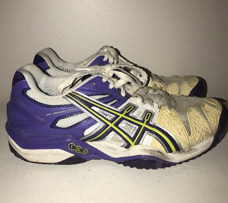Asics Gel Resolution Parachute violet Lime Running Athletic chaussures Femmes Taille 8  j