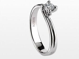 disponibilità nel Regno Unito c097e aac8b Dettagli su Anello Solitario Damiani VALENTINO 20045034 diamante ring NUOVO  diamond 0,42 kt