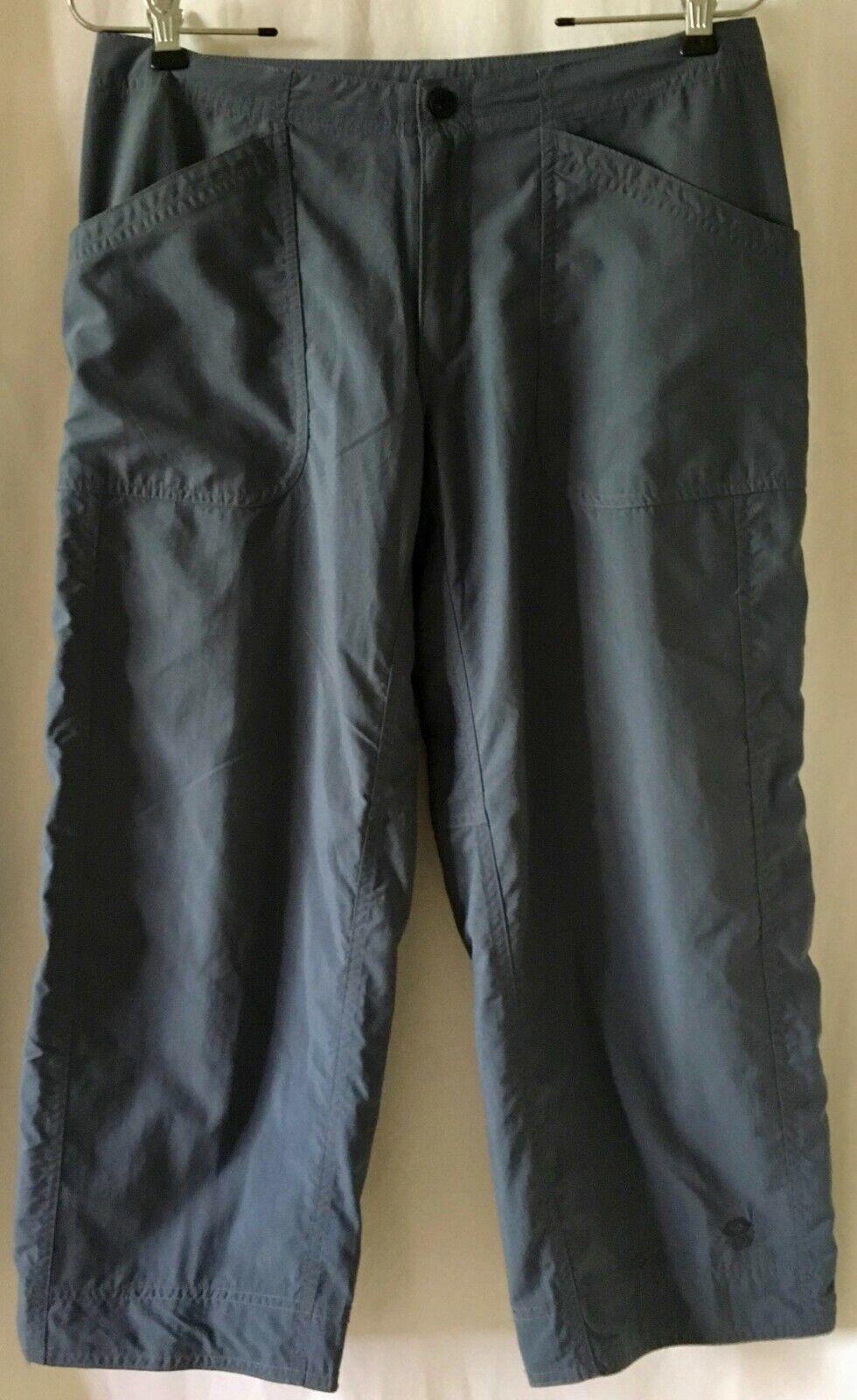 Mountain Hardwear Womens Arroyo Capri Pants Outdoor 6 Blue