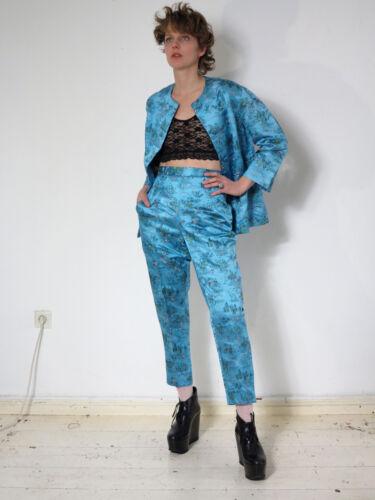 Blumosa Piece 60er Jacke Anzug Jacket Hose Vintage amp; 60s True Silky Trousers 2 ZSgqT4pZ