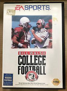 Bill Walsh College Football Sega Mega Drive 1993 Ebay