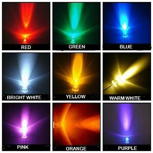Super-Bright-LEDs-3mm-5mm-Red-Yellow-Orange-Blue-White-Green-Pink-WarmWhite-U-V