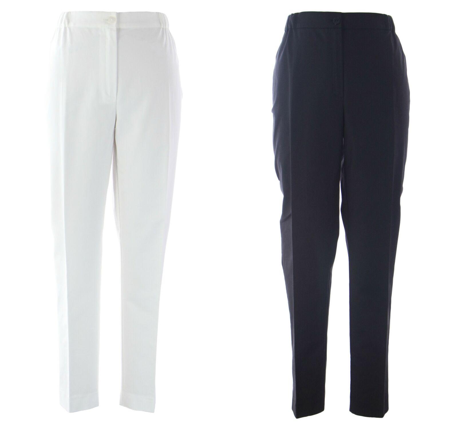 MARINA RINALDI Women's Renata Elastic Waist Trousers  375 NWT