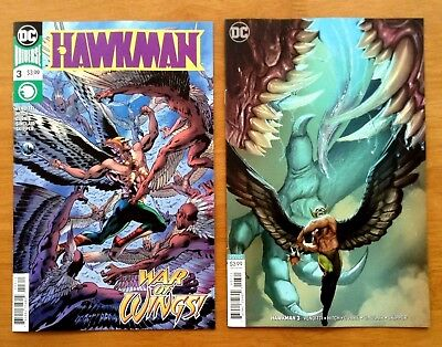 Hawkman 3 Covers A Stjepan Sejic Variant Cover 1st Prints DC 2018 NM+