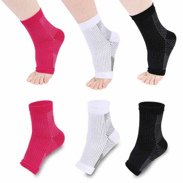 1Pair Women Compression Sleeve Anti Plantar Support Ankle Socks Pain Relief S-XL