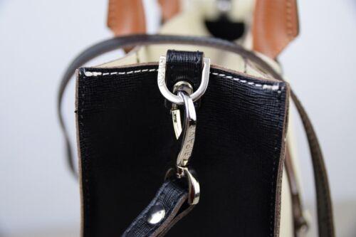 van 7881 100 Beige zwart draagtas Italië bruin gestructureerde leer gemaakt Ripani in dAfqnFYq