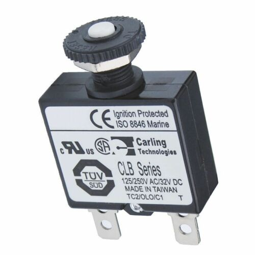 5 Amp BSS 7052 Push Button Reset Only Quick Connect Circuit Breaker