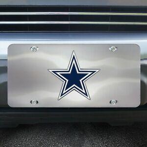 Dallas-Cowboys-Die-Cast-Chromed-Metal-License-Plate-Tag
